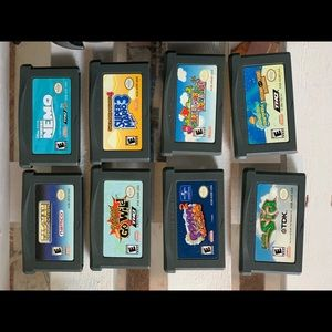 Gameboy Advance SP with accessories and games